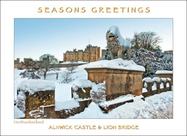 Alnwick Castle Lion Bridge Christmas Card