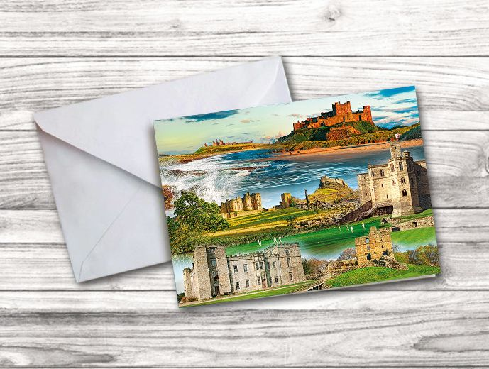 Northumberland Castles Notecard