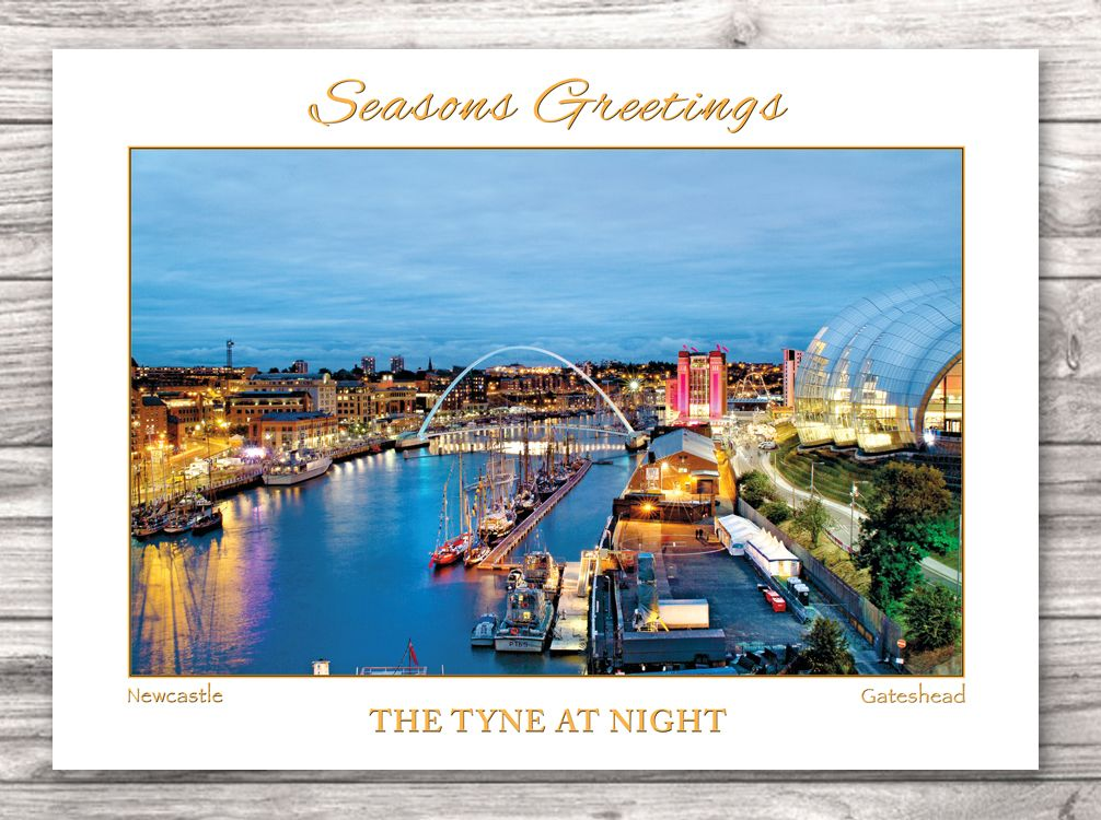 The Tyne at Night Christmas Card